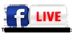 Logo for Facebook Live on Thursdays at 11:30 am PST